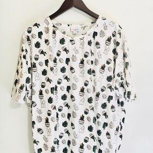 • lularoe cactus irma super soft tunic/top •